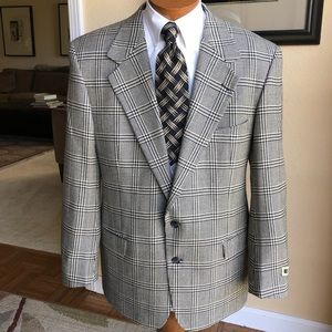 NEW Joseph Abboud All Wool Plaid Sport Coat 43L